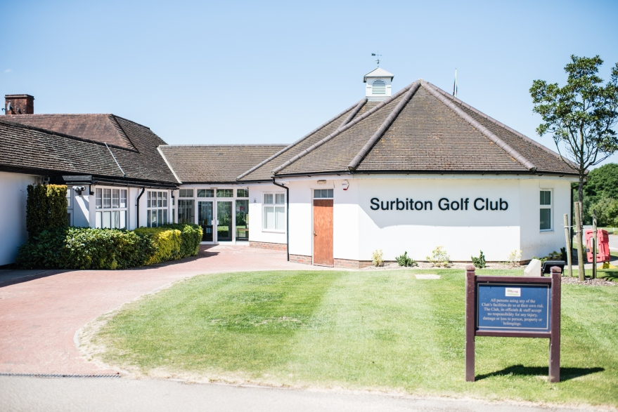The entrance of the Surbiton Golf Club